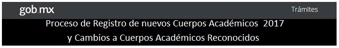 Registro de Cuerpos Académicos 2017