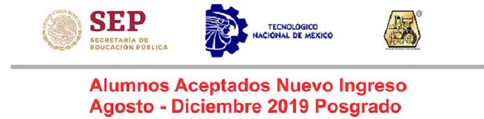Aspirantes Aceptados Ago-Dic 2019
