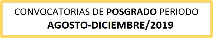 convocatorias posgrado 20193