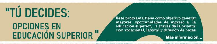 Opciones Educación